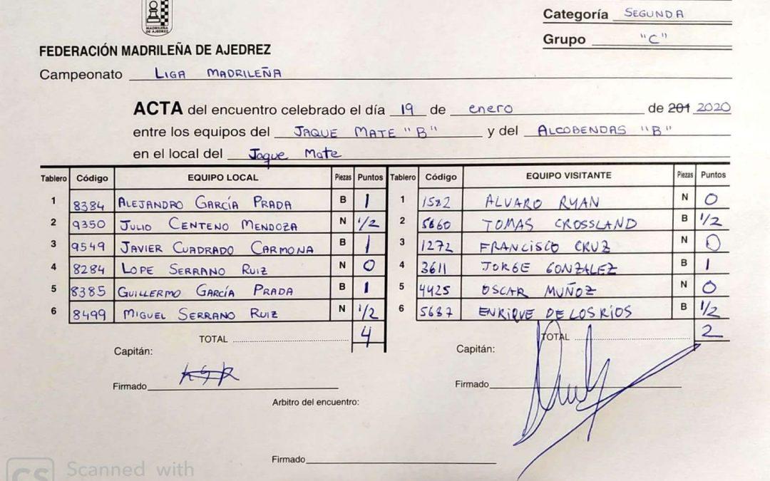 CUARTA JORNADA DE LIGA