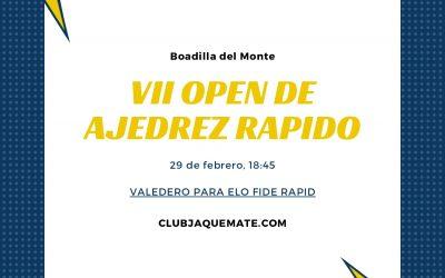 VII Open de Ajedrez Rápido Club Jaque Mate
