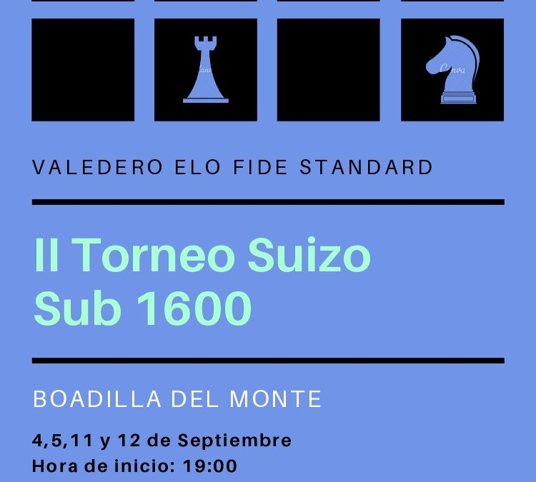 II Torneo Suizo Sub 1600 Club Jaque Mate
