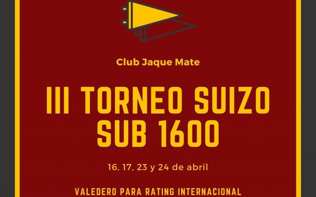 III Torneo Suizo Sub1600 Club Jaque Mate