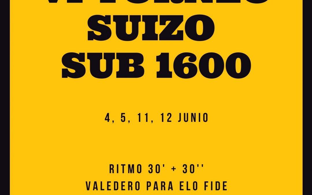 VI Torneo Suizo Sub 1600 Club Jaque Mate